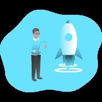 illustration manypixels startup